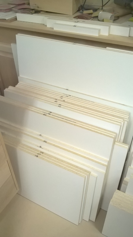 ... Of 107 Pieces To Make The Cabinet U201cboxesu201d, Refrigerator Enclosure And  Shelves. I Also Cut 12 More Pieces From The Same Material For Closet  Shelves.